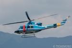 遠森一郎さんが、福岡空港で撮影した福岡県警察 412EPの航空フォト(写真)