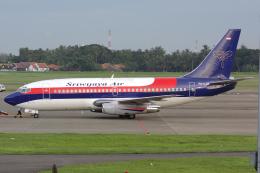 Hariboさんが、スカルノハッタ国際空港で撮影したスリウィジャヤ航空 737-2B7/Advの航空フォト(飛行機 写真・画像)