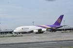 まーくんJA8995さんが、関西国際空港で撮影したタイ国際航空 A380-841の航空フォト(写真)