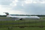 採れたてほしいもさんが、マンチェスター空港で撮影したブルガリアン・エア・チャーター MD-82 (DC-9-82)の航空フォト(写真)