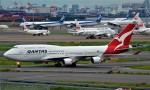 鉄バスさんが、羽田空港で撮影したカンタス航空 747-438/ERの航空フォト(写真)