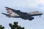 steraziyさんが、シンガポール・チャンギ国際空港で撮影したブリティッシュ・エアウェイズ A380-841の航空フォト(飛行機 写真・画像)