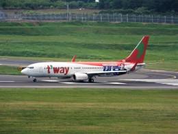 PW4090さんが、済州国際空港で撮影したティーウェイ航空 737-8KGの航空フォト(飛行機 写真・画像)