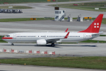 Hariboさんが、チューリッヒ空港で撮影したプライベートエア 737-86Qの航空フォト(飛行機 写真・画像)