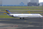 Hariboさんが、アムステルダム・スキポール国際空港で撮影したエア・ボソナ MD-81 (DC-9-81)の航空フォト(写真)
