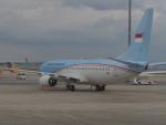 ガスパールさんが、関西国際空港で撮影したインドネシア政府 737-8U3 BBJ2の航空フォト(写真)