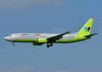 じーく。さんが、福岡空港で撮影したジンエアー 737-86Nの航空フォト(飛行機 写真・画像)