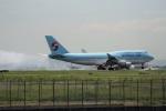 レドームさんが、羽田空港で撮影した大韓航空 747-4B5の航空フォト(写真)