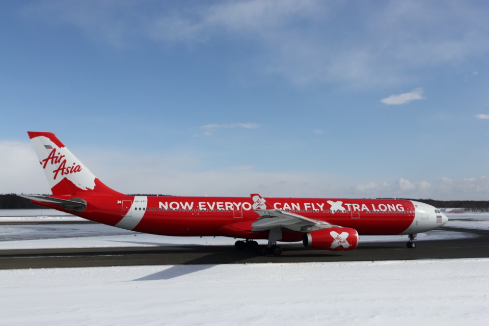 ATOMさんのタイ・エアアジア・エックス Airbus A330-300 (HS-XTF) 航空フォト