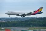 mojioさんが、成田国際空港で撮影したアシアナ航空 747-48EF/SCDの航空フォト(飛行機 写真・画像)
