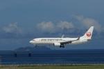なぞたびさんが、那覇空港で撮影した日本トランスオーシャン航空 737-8Q3の航空フォト(写真)