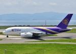 じーく。さんが、関西国際空港で撮影したタイ国際航空 A380-841の航空フォト(飛行機 写真・画像)