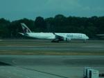 kiyohsさんが、シンガポール・チャンギ国際空港で撮影したカタール航空 A350-941の航空フォト(飛行機 写真・画像)