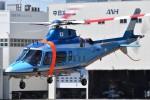 ミルハスさんが、東京ヘリポートで撮影した警視庁 A109E Powerの航空フォト(写真)