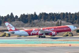panchiさんが、成田国際空港で撮影したインドネシア・エアアジア・エックス A330-343Xの航空フォト(飛行機 写真・画像)