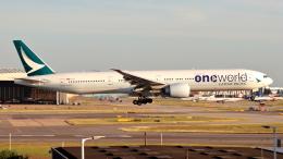 誘喜さんが、ロンドン・ヒースロー空港で撮影したキャセイパシフィック航空 777-367/ERの航空フォト(飛行機 写真・画像)