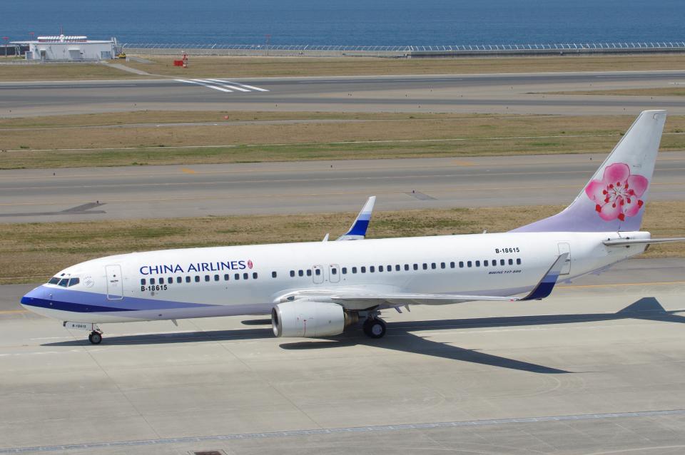 yabyanさんのチャイナエアライン Boeing 737-800 (B-18615) 航空フォト