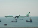 kiyohsさんが、香港国際空港で撮影したエバー航空 777-35E/ERの航空フォト(飛行機 写真・画像)