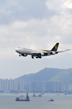 アカゆこさんが、香港国際空港で撮影したUPS航空 747-8Fの航空フォト(写真)