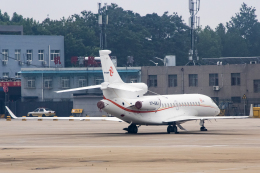 xingyeさんが、西安咸陽国際空港で撮影したTAG Aviation San Marino SRL Falcon 7Xの航空フォト(飛行機 写真・画像)