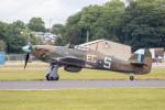 チャッピー・シミズさんが、フェアフォード空軍基地で撮影したUnited Kingdom - Battle of Britain Memorial Flight Hurricane Mk2Cの航空フォト(写真)