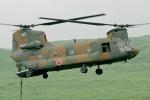 ちゃぽんさんが、東富士演習場で撮影した陸上自衛隊 CH-47Jの航空フォト(写真)