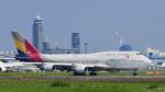 パンダさんが、成田国際空港で撮影したアシアナ航空 747-48Eの航空フォト(写真)