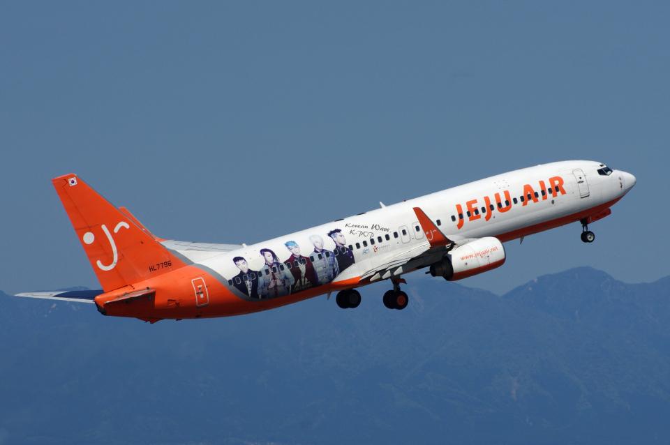 yabyanさんのチェジュ航空 Boeing 737-800 (HL7796) 航空フォト