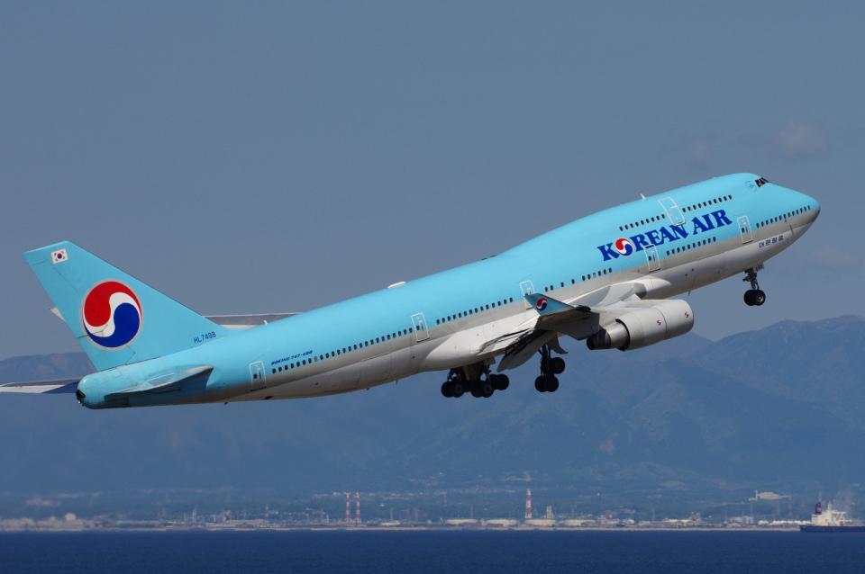 yabyanさんの大韓航空 Boeing 747-400 (HL7498) 航空フォト