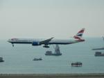 kiyohsさんが、香港国際空港で撮影したブリティッシュ・エアウェイズ 777-336/ERの航空フォト(飛行機 写真・画像)