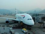 kiyohsさんが、香港国際空港で撮影したブリティッシュ・エアウェイズ A380-841の航空フォト(飛行機 写真・画像)