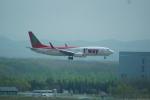 FRTさんが、新千歳空港で撮影したティーウェイ航空 737-8Q8の航空フォト(飛行機 写真・画像)