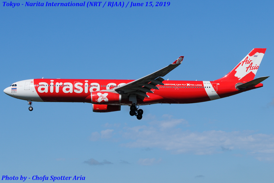 Chofu Spotter Ariaさんのタイ・エアアジア・エックス Airbus A330-300 (HS-XTE) 航空フォト