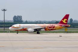 xingyeさんが、西安咸陽国際空港で撮影した天津航空 A320-214の航空フォト(飛行機 写真・画像)