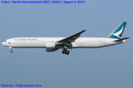 Chofu Spotter Ariaさんが、成田国際空港で撮影したキャセイパシフィック航空 777-367の航空フォト(写真)