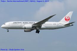 Chofu Spotter Ariaさんが、成田国際空港で撮影した日本航空 787-8 Dreamlinerの航空フォト(写真)