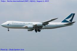 Chofu Spotter Ariaさんが、成田国際空港で撮影したキャセイパシフィック航空 747-867F/SCDの航空フォト(写真)