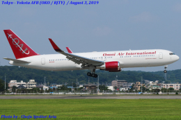 Chofu Spotter Ariaさんが、横田基地で撮影したオムニエアインターナショナル 767-323/ERの航空フォト(写真)