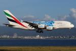 つみネコ♯2さんが、関西国際空港で撮影したエミレーツ航空 A380-861の航空フォト(写真)