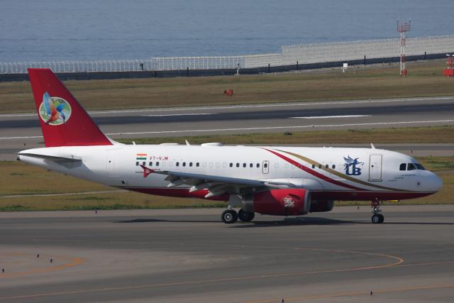 Hariboさんが、中部国際空港で撮影したキングフィッシャー航空 A319-133CJの航空フォト(飛行機 写真・画像)