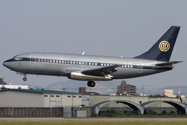 Hariboさんが、名古屋飛行場で撮影したスカイ・アヴィエーション 737-2W8/Advの航空フォト(飛行機 写真・画像)
