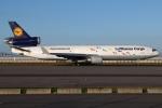 つみネコ♯2さんが、関西国際空港で撮影したルフトハンザ・カーゴ MD-11Fの航空フォト(写真)