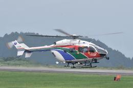 ワイエスさんが、静岡空港で撮影した茨城県防災航空隊 BK117C-2の航空フォト(飛行機 写真・画像)