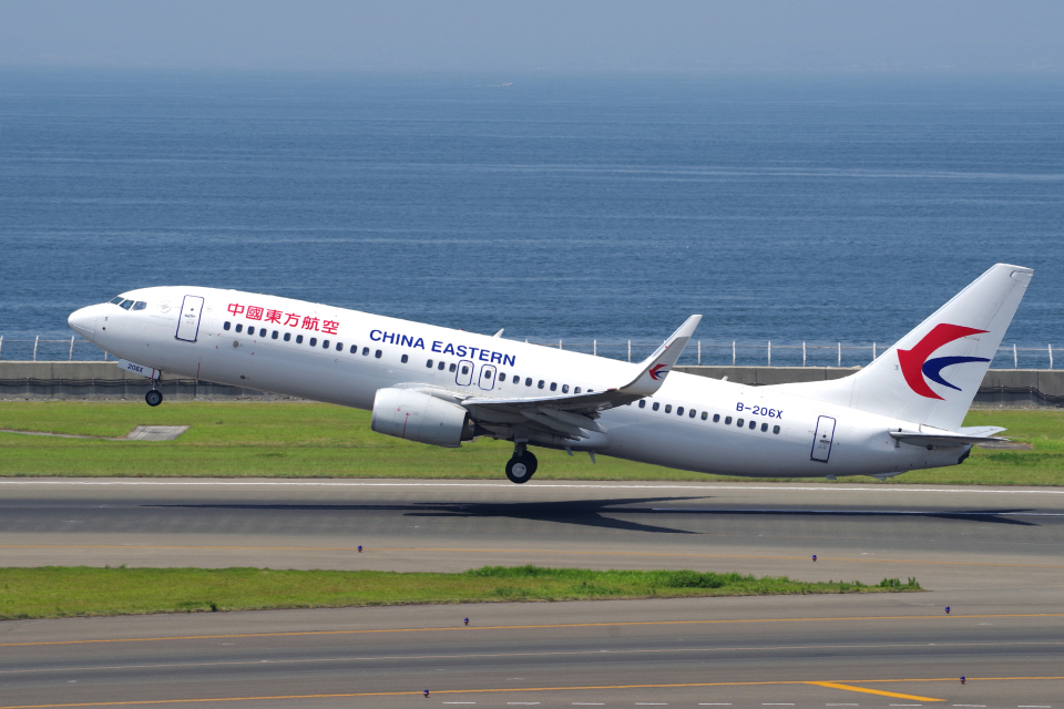 yabyanさんの中国東方航空 Boeing 737-800 (B-206X) 航空フォト