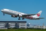 KAIHOさんが、徳島空港で撮影した日本航空 767-346の航空フォト(飛行機 写真・画像)