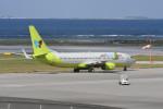 kuro2059さんが、那覇空港で撮影したジンエアー 737-8SHの航空フォト(飛行機 写真・画像)