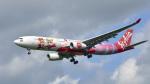 パンダさんが、成田国際空港で撮影したタイ・エアアジア・エックス A330-343Xの航空フォト(飛行機 写真・画像)