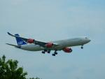kiyohsさんが、成田国際空港で撮影したスカンジナビア航空 A340-313Xの航空フォト(飛行機 写真・画像)