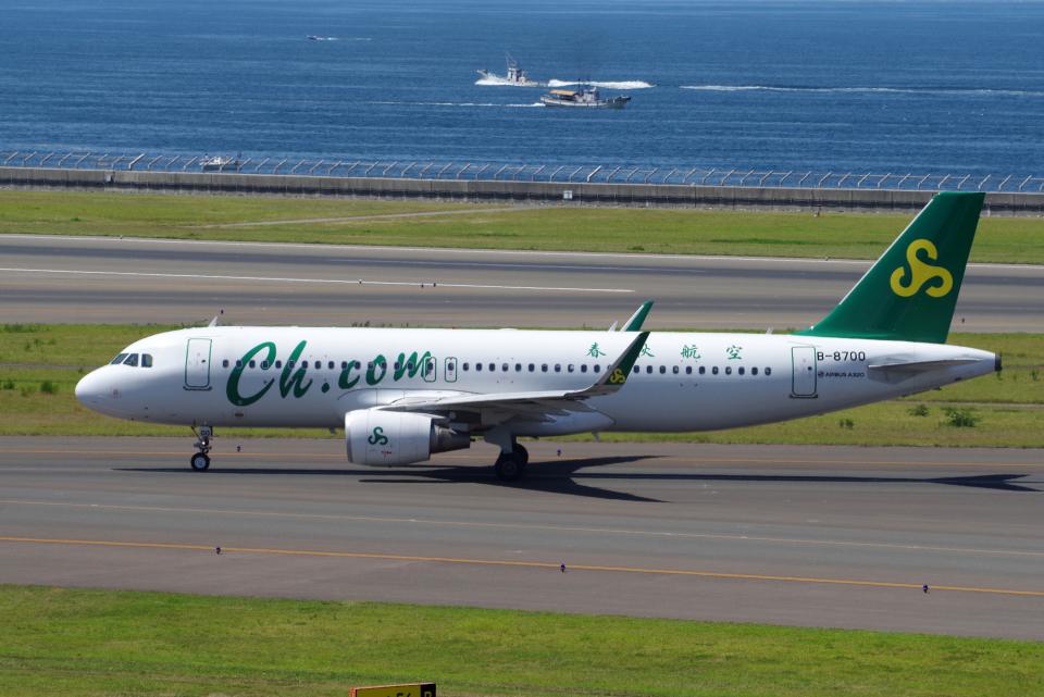 yabyanさんの春秋航空 Airbus A320 (B-8700) 航空フォト