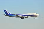 ポン太さんが、羽田空港で撮影した全日空 747-481(D)の航空フォト(写真)
